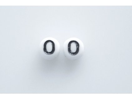 """Beads with numbers """"0"""" 11130218 6 mm 03000/46449"""
