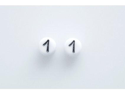 """Beads with numbers """"1"""" 11130218 6 mm 03000/46449"""