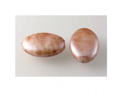 Imitation pearls 13230108 16x11 mm 84176