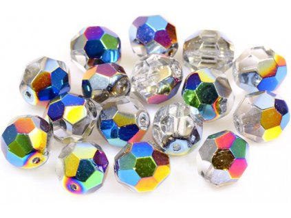 Faceted glass beads 15113601 12 mm 00030/28101