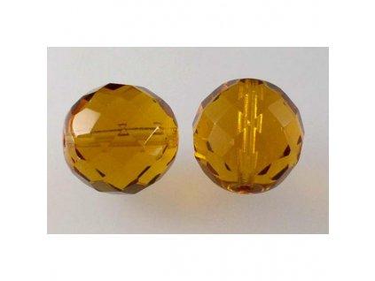Fire polished glass bead 16 mm 10060