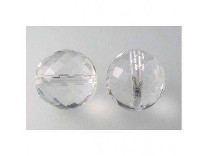 Fire polished glass bead 18 mm 00030