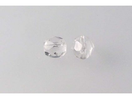 Fire polished glass bead 6 mm 00030