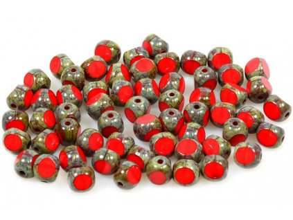 Faceted glass bead 15119501 6 mm 93200/86800
