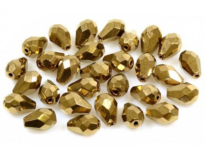Faceted pear beads 15155001 10x7 mm 23980/90215