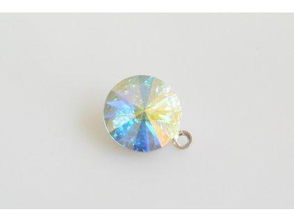 pendant Rivoli 12 mm crystal AB rhodium made with Swarovski®  Elements