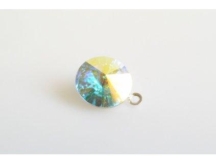 pendant Rivoli 12 mm crystal AB  made with Swarovski®  Elements