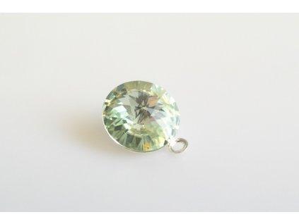pendant Rivoli 12 mm chrysolite made with Swarovski®  Elements