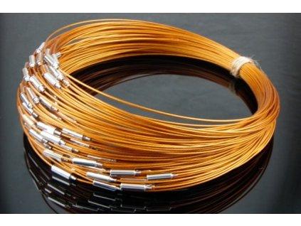 Steel wire light brown