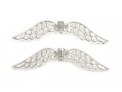 Wings 32x7 mm, silver