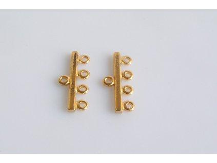 hanger 4rows - gold