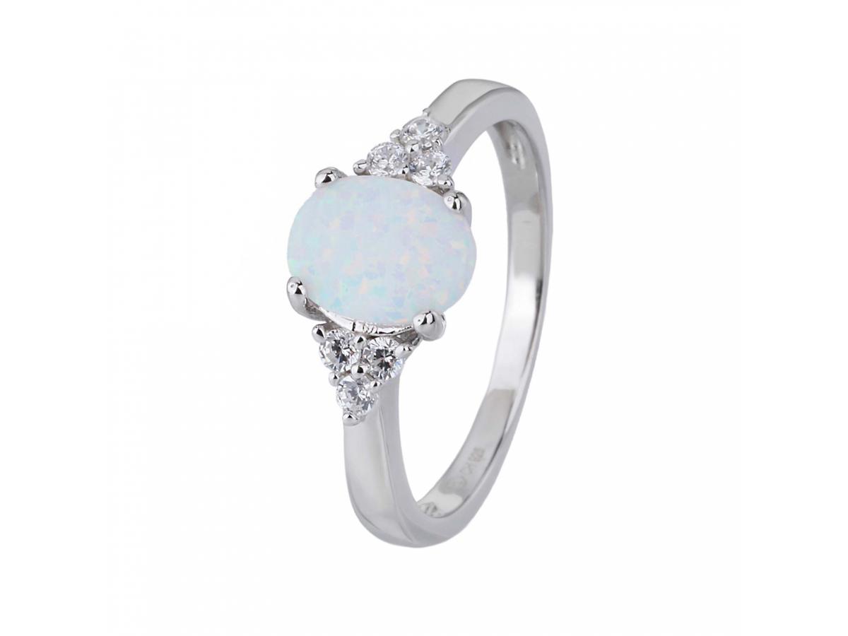 Stříbrný prsten ELEGANTNÍ bílý OPÁL