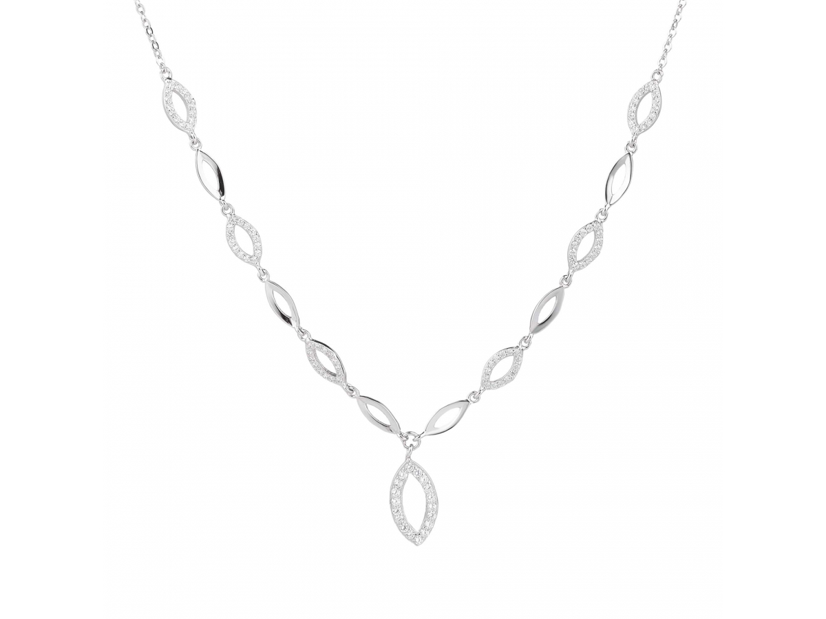 Stříbrný náhrdelník KAPKY 5 mm