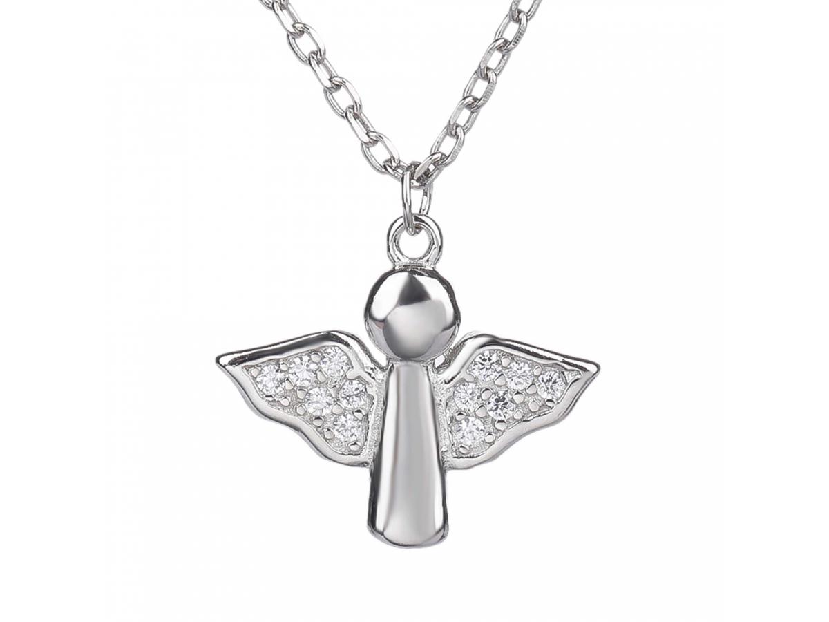 Stříbrný náhrdelník ANDĚL