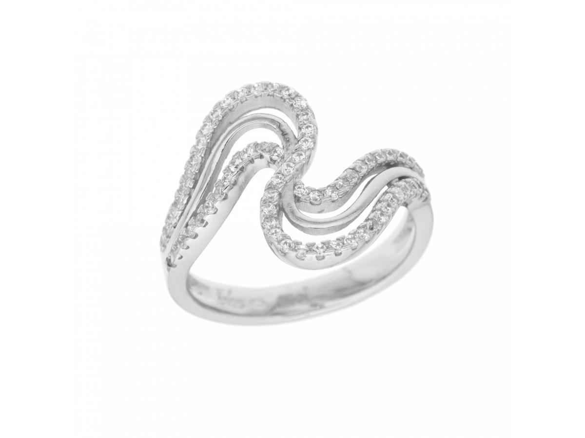 Stříbrný prsten vlnitý (Velikost prstenu 58)