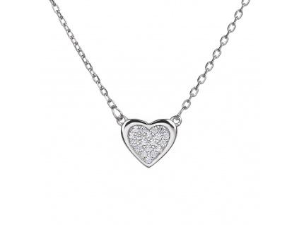 Stříbrný náhrdelník SRDÍČKO jemné