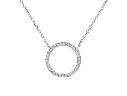 Stříbrný náhrdelník ZÁŘIVÝ KROUŽEK