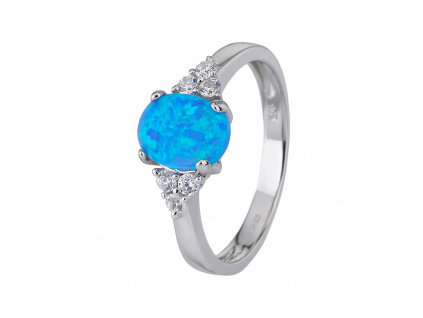 Stříbrný prsten ELEGANTNÍ modrý OPÁL