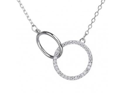Stříbrný náhrdelník PROPOJENÉ KROUŽKY