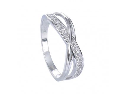 Stříbrný prsten ZÁŘIVÉ VLNKY