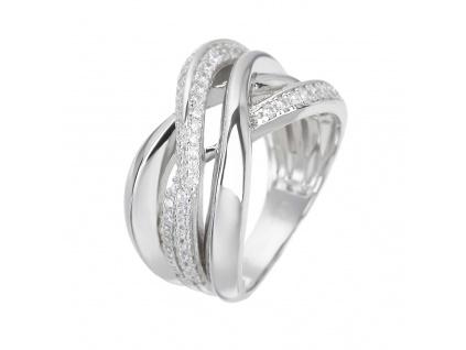 Stříbrný prsten ELEGANTNÍ VLNKY