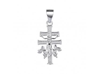 Stříbrný přívěsek KŘÍŽ CARAVACA