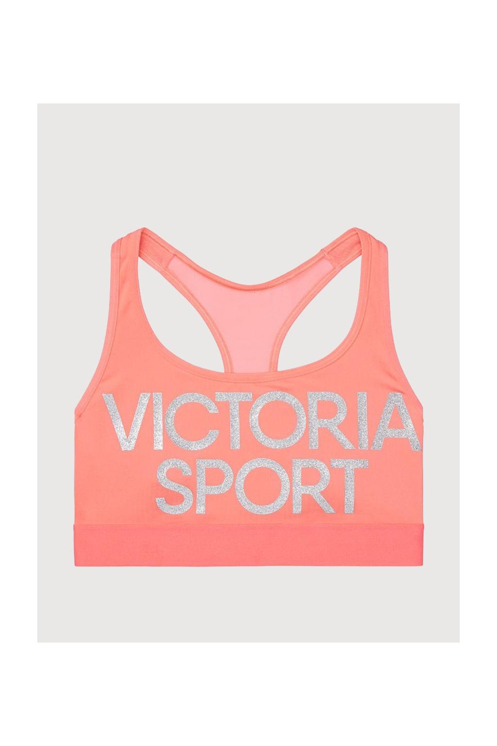 Victoria's Secret sportovní podprsenka – The Player by Victoria Sport Mesh Racerback Sport – Shell Pink