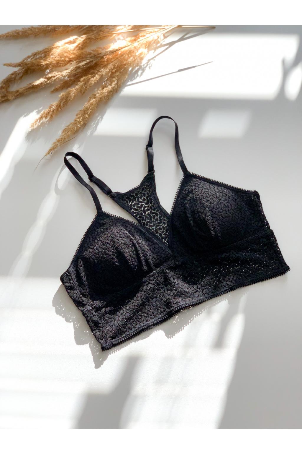 DKNY krajková podprsenka Modern Lace - černá