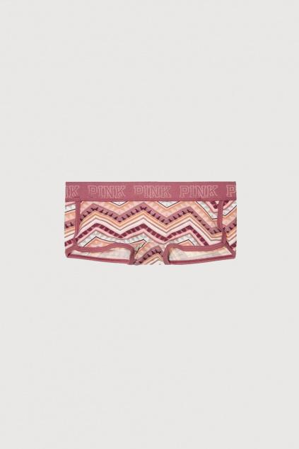Kalhotky s nohavičkou Logo Boyshort - růžové