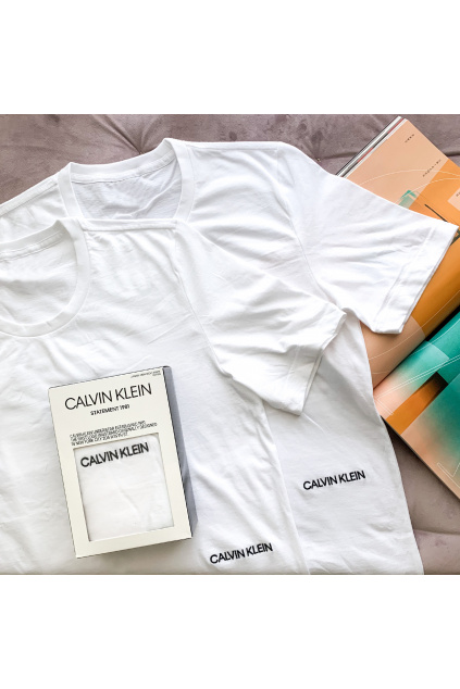 Calvin Klein 2pack t-shirt statement 1981 bílá