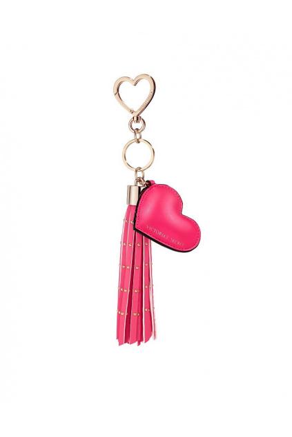 privesek victoria s secret heart tassel keychain