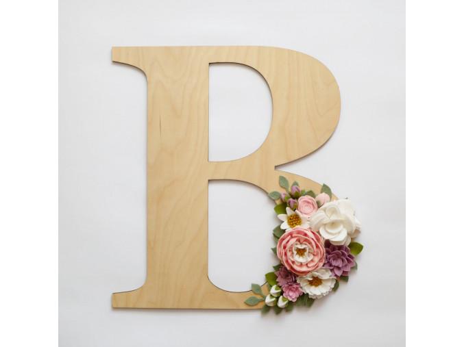 dřevěné písmeno B