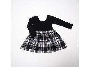 kostkované šaty s dlouhým rukávem (více variant)