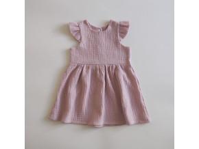 mušelínové šaty s volánkovým rukávem (více variant)