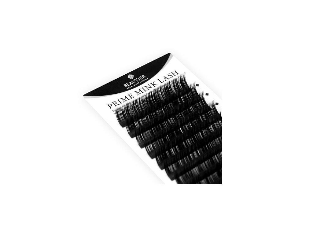 Beautier norkové řasy páskové B 0,15 16mm - balení 12 řad