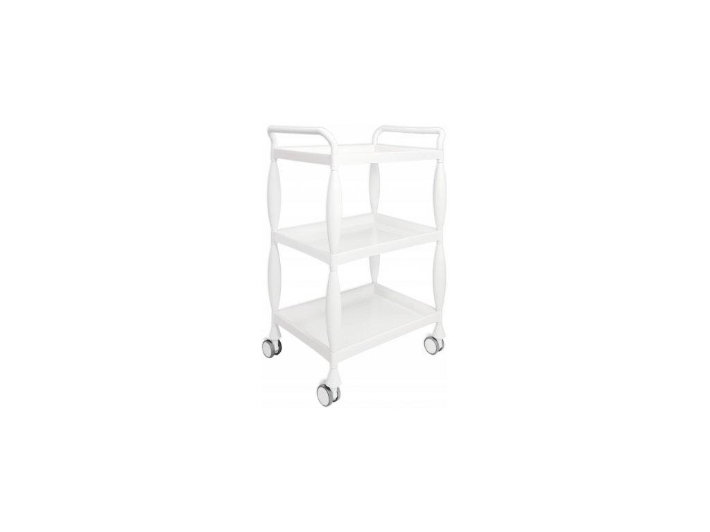 Kosmetický vozík - Bílá barva MRAMOR