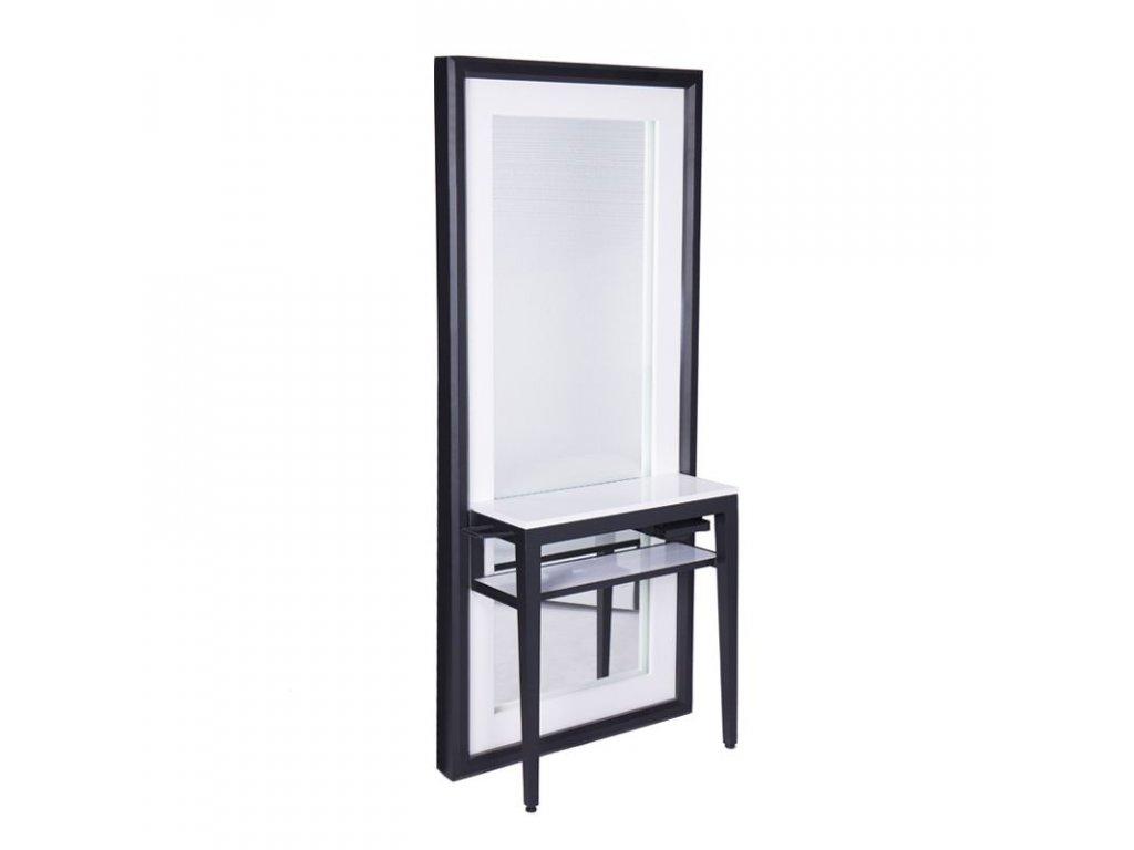 Kadeřnická stěna se zrcadlem