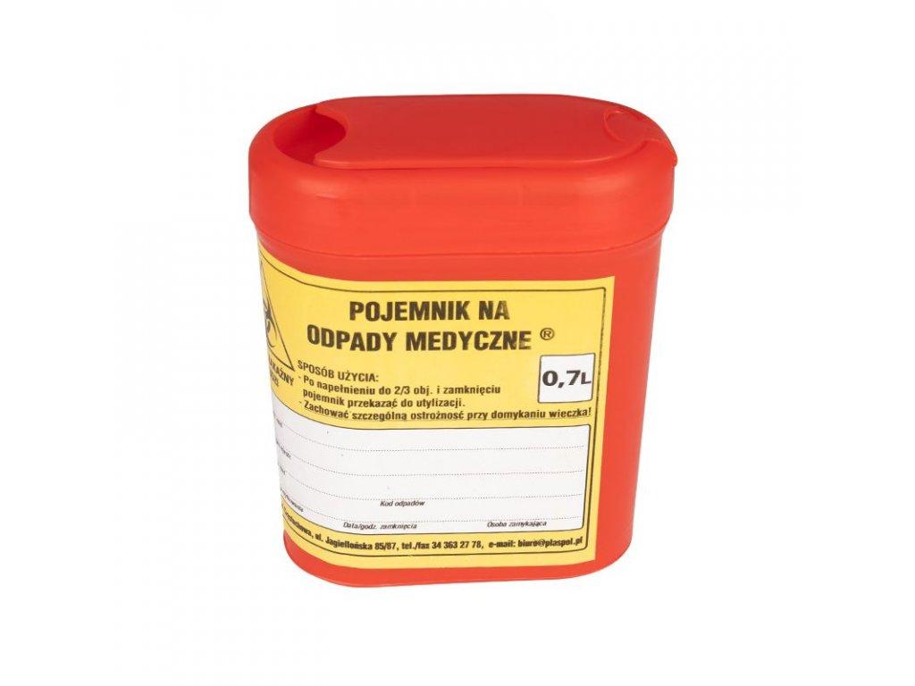 Oválná nádoba na zdravotní odpad 0,7L