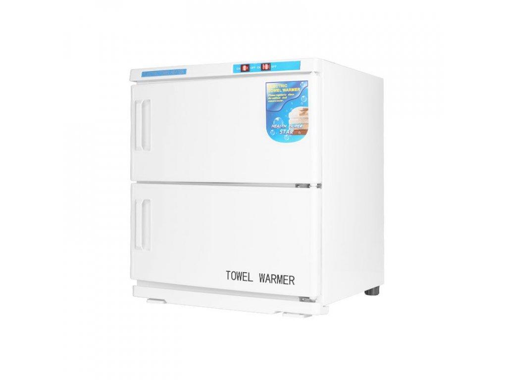 Ohřívač ručníků s UV-C sterilizátorem 32 l - dvojitý bílý