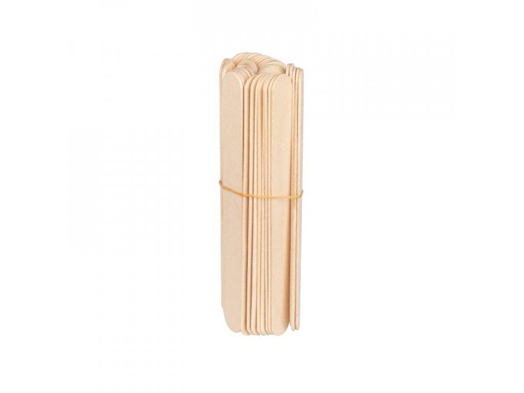Dřevěné špachtle 150x18x1,8mm - 50 ks