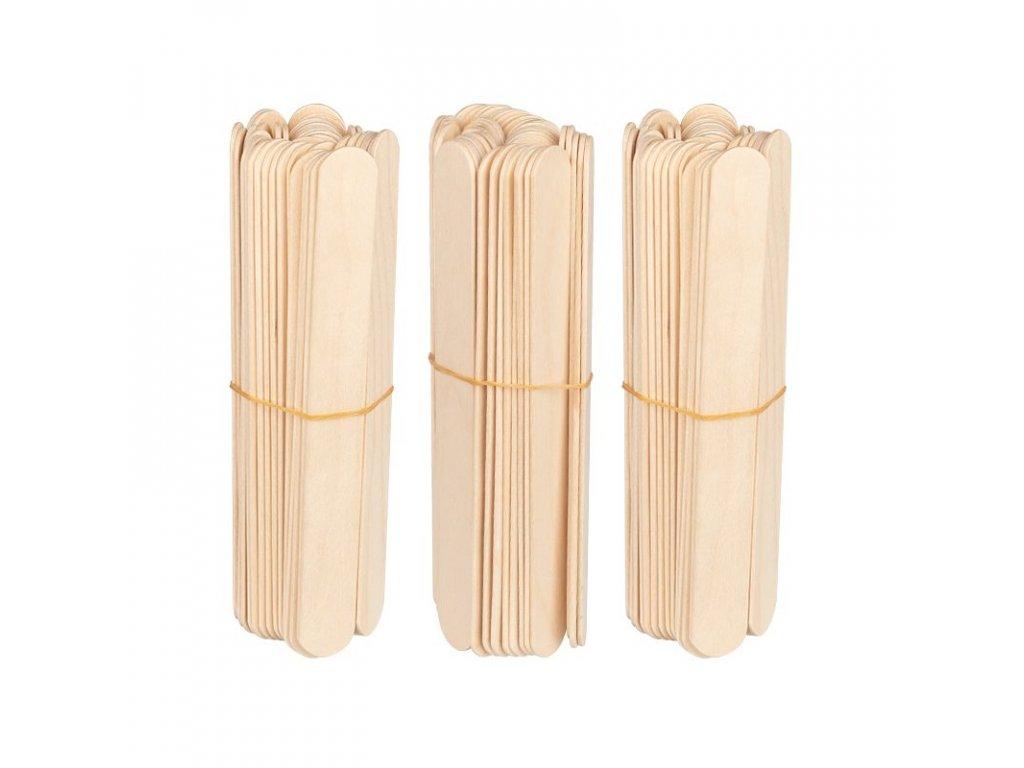 Dřevěné špachtle 150x18x1,8mm - 150 ks
