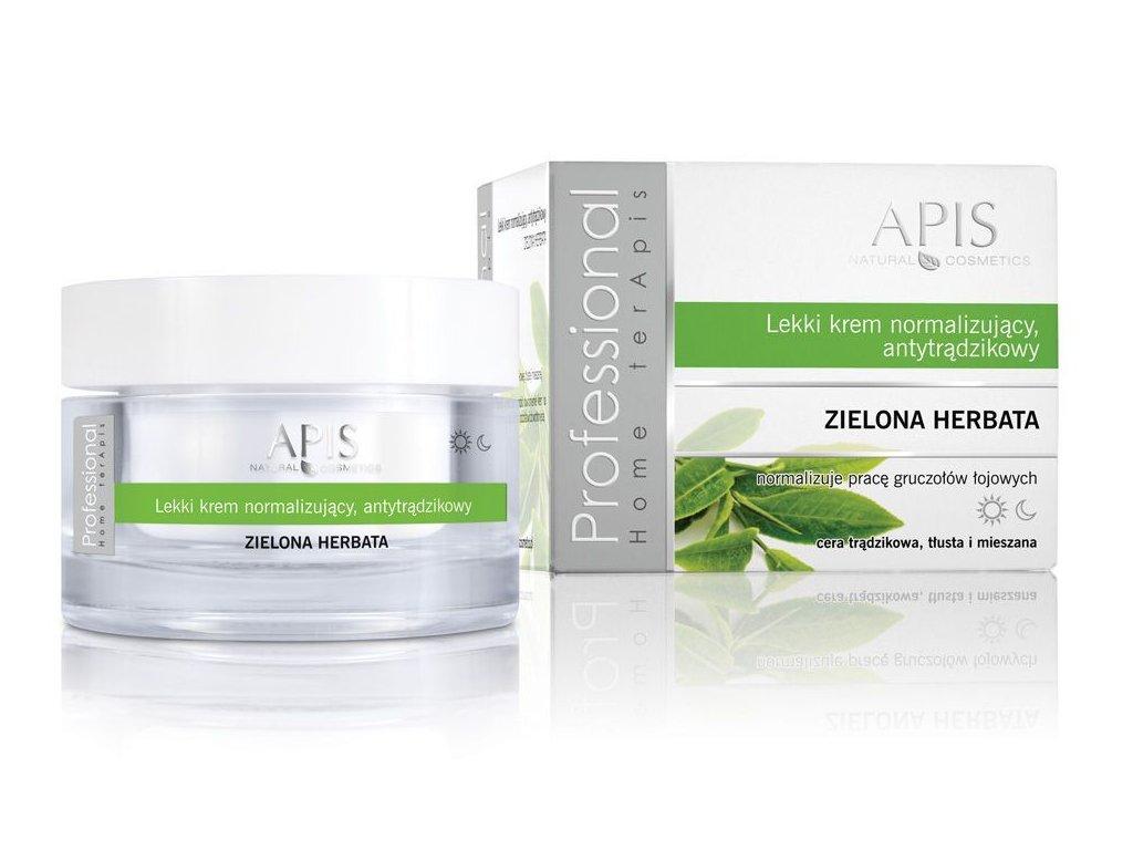 APIS normalizační krém proti akné - zelený čaj 50 ml