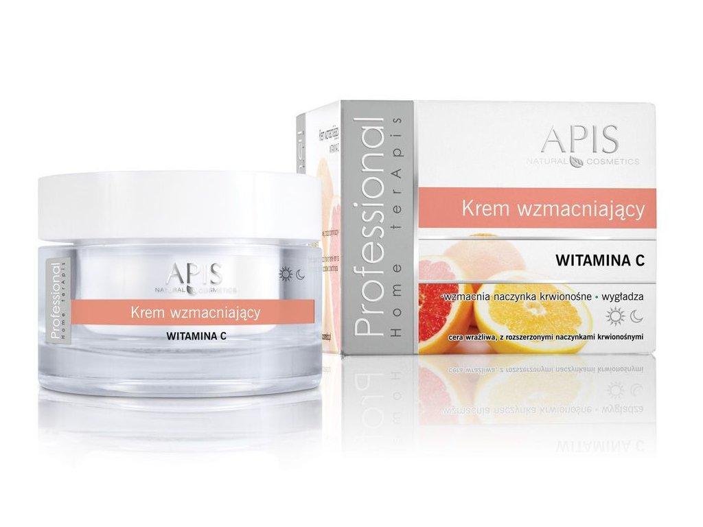 APIS Posilující krém s vitaminem C - citlivá pokožka, rozšířené cévy 50ml