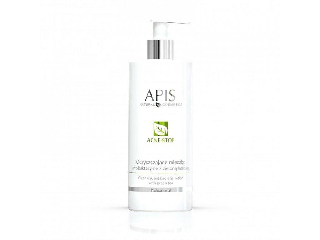 APIS Antibakteriální čisticí mléko STOP - AKNÉ se zeleným čajem 500 ml