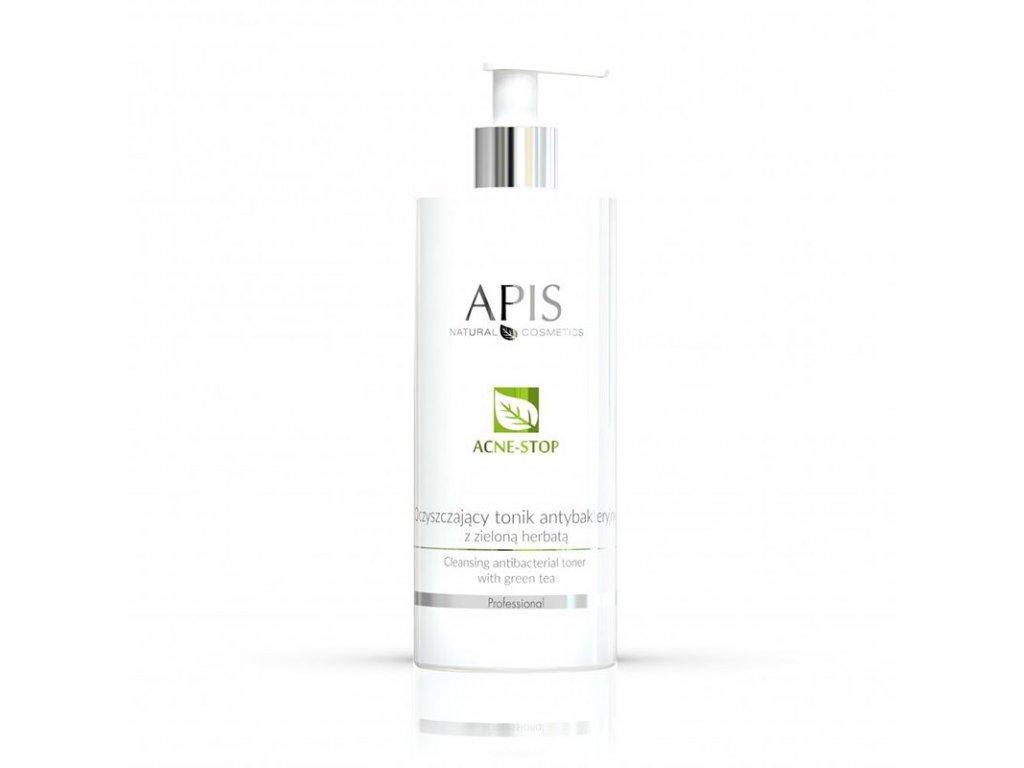 APIS Antibakteriální čisticí tonikum STOP - AKNÉ se zeleným čajem 500 ml