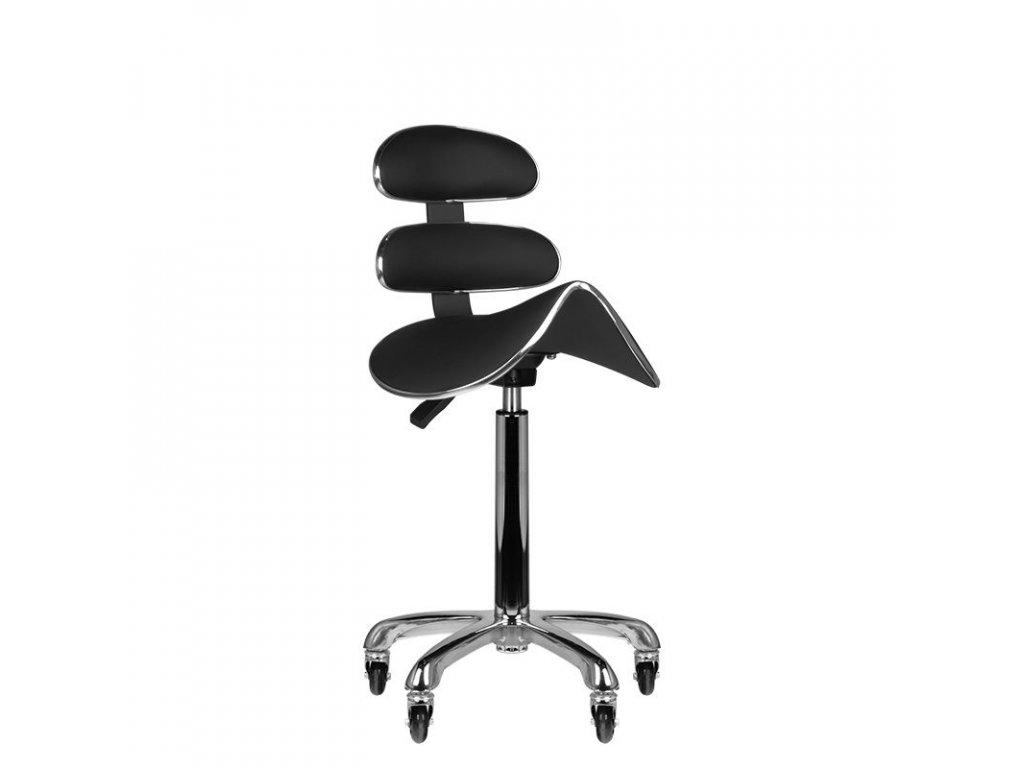 Kosmetická židle s opěrkou AM-880 ČERNÁ