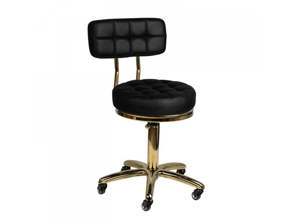 Kosmetická židle GOLD AM-961 Černá