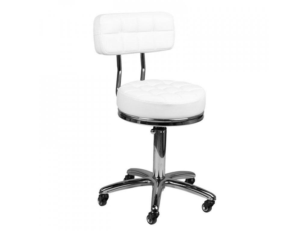 Kosmetická židle AM-877 BÍLÁ