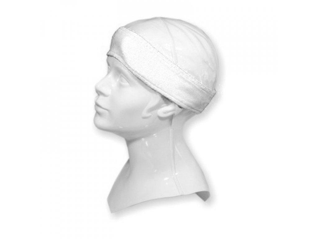 Froté kosmetická čelenka bílá na suchý zip