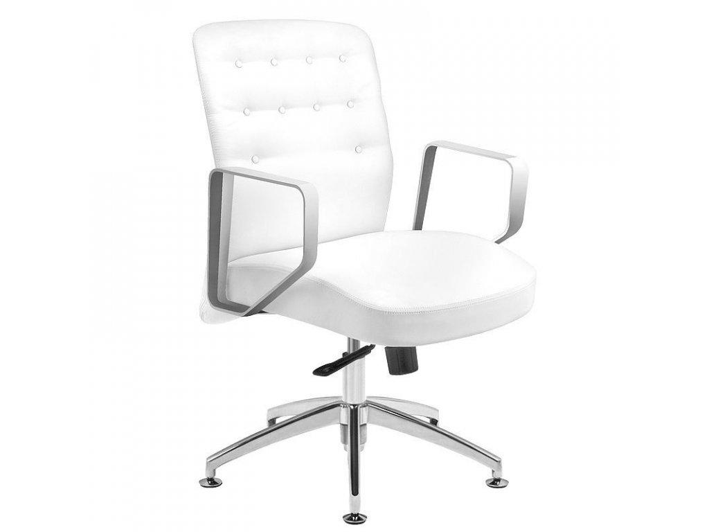 Kosmetická židle RICO 299 BÍLÁ vhodná pro nehtovou modeláž